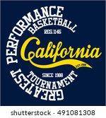 college california sport... | Shutterstock .eps vector #491081308