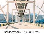 cruise terminal corridor | Shutterstock . vector #491083798
