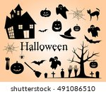 vector illustration of set of... | Shutterstock .eps vector #491086510