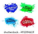 abstract stickers  tags or... | Shutterstock .eps vector #491094619