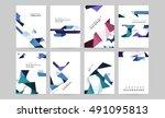 vector brochure flyer design... | Shutterstock .eps vector #491095813