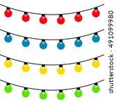 Set Of Christmas Lights Garlan...