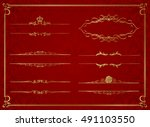 frame set vector  | Shutterstock .eps vector #491103550
