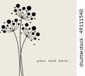 Stock vector vector flower background 49111540