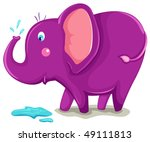 illustration of isolated cute... | Shutterstock . vector #49111813