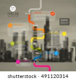 vector colorful infographic... | Shutterstock .eps vector #491120314