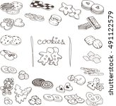 hand drawn collection of the... | Shutterstock .eps vector #491122579