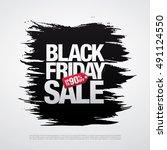 black friday sale banner | Shutterstock .eps vector #491124550