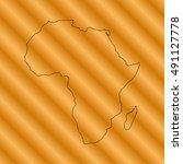 map of africa  | Shutterstock .eps vector #491127778