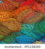isometric graphic pattern.... | Shutterstock .eps vector #491138200