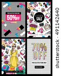 fashion sale and special offer... | Shutterstock .eps vector #491142640