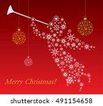 christmas angel   illustration | Shutterstock .eps vector #491154658