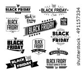 black friday calligraphic... | Shutterstock .eps vector #491157334
