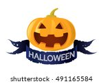 pumpkin jack o lantern  vector   Shutterstock .eps vector #491165584