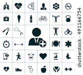 health icon set | Shutterstock .eps vector #491166754