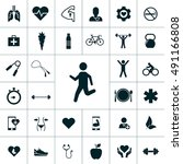 health icon set | Shutterstock .eps vector #491166808