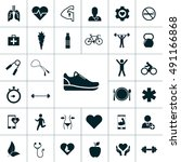 health icon set | Shutterstock .eps vector #491166868