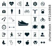 health icon set | Shutterstock .eps vector #491166868