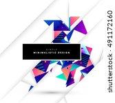 geometric background template... | Shutterstock .eps vector #491172160