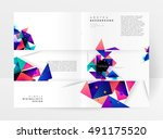 geometric background template... | Shutterstock .eps vector #491175520