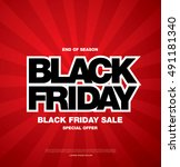 black friday sale banner | Shutterstock .eps vector #491181340