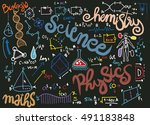 education  background with... | Shutterstock .eps vector #491183848