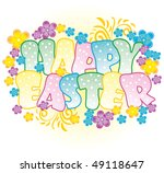 beautifully decorated easter... | Shutterstock .eps vector #49118647