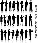 large collection of silhouettes ... | Shutterstock .eps vector #49118938