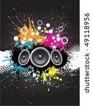 grunge sound background | Shutterstock .eps vector #49118956