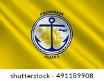flag of anchorage is a unified... | Shutterstock . vector #491189908