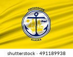 flag of anchorage is a unified... | Shutterstock . vector #491189938