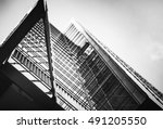 modern architecture black and... | Shutterstock . vector #491205550