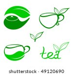 stylized tea icons | Shutterstock .eps vector #49120690