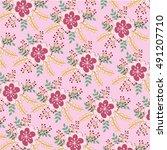 flower pattern | Shutterstock .eps vector #491207710