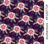 flower pattern   Shutterstock .eps vector #491207719