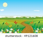butterflies over the summer... | Shutterstock .eps vector #49121608