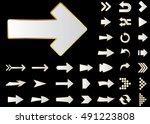 arrow vector 3d button icon set ... | Shutterstock .eps vector #491223808
