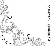 ornate corner element is on...   Shutterstock .eps vector #491224600