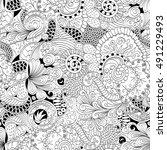 tracery seamless calming...   Shutterstock .eps vector #491229493