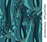 tracery seamless calming... | Shutterstock .eps vector #491229784