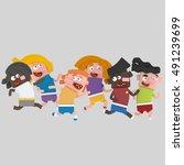 3d illustration. children... | Shutterstock . vector #491239699