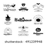 halloween party invitation... | Shutterstock .eps vector #491239948