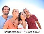 group of friends having fun in...   Shutterstock . vector #491255560