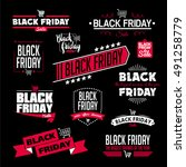 black friday calligraphic... | Shutterstock .eps vector #491258779