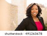 confident friendly black... | Shutterstock . vector #491263678