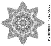 beautiful mandala | Shutterstock .eps vector #491273980