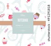 cute template for scrapbook... | Shutterstock .eps vector #491291818