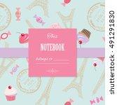 cute template for scrapbook... | Shutterstock .eps vector #491291830