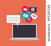 digital social network... | Shutterstock .eps vector #491292163