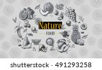 organic food. fresh fruits  | Shutterstock . vector #491293258